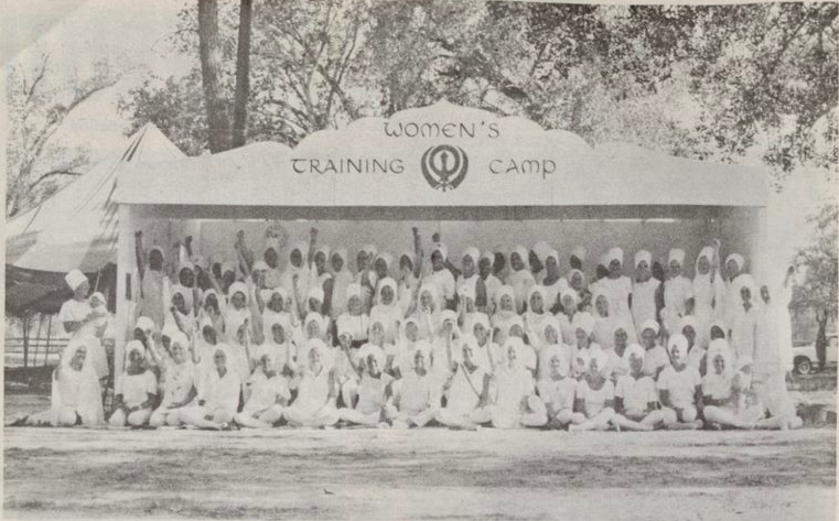 The First Khalsa Women's Training Camp in 1976